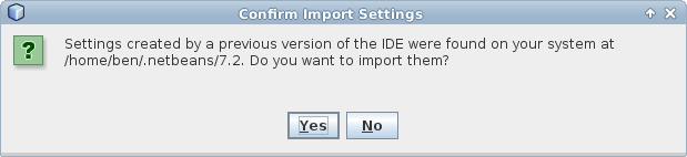 NetBeans upgrade prompt